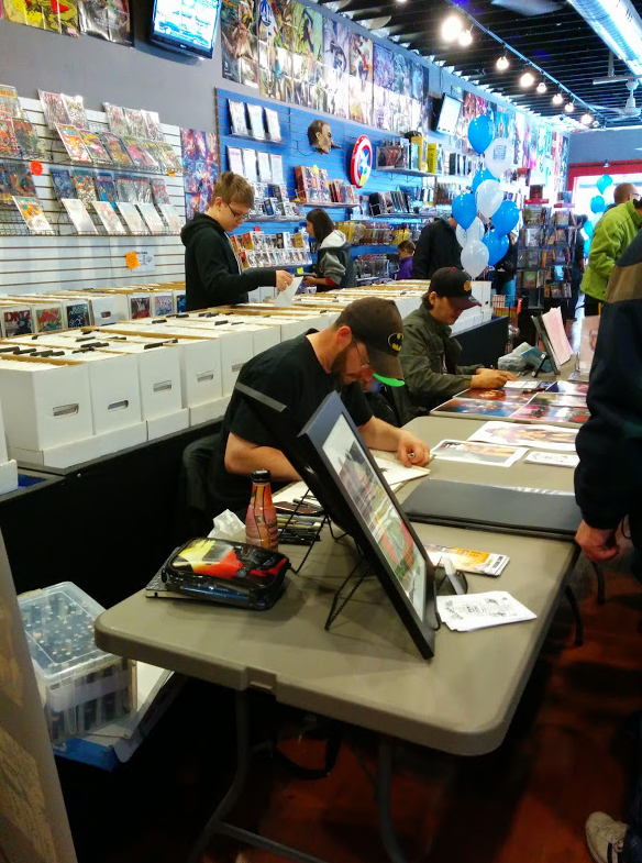 Bulmer and Oliver at Pulp Comics